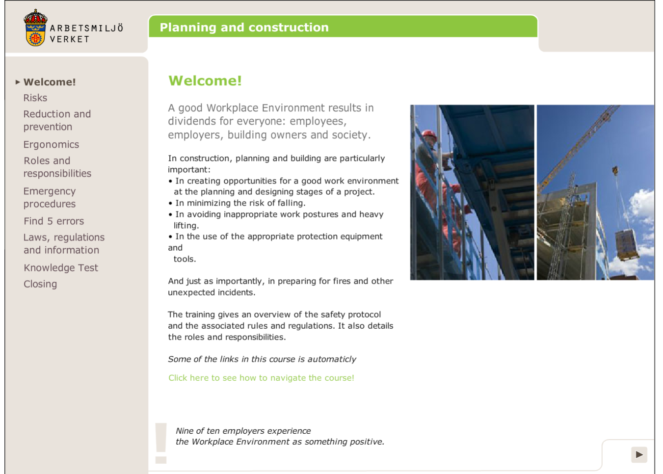 Planning and construction: online course