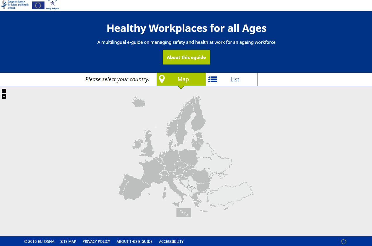 A multilingual e-guide on managing safety and health at work for an ageing workforce