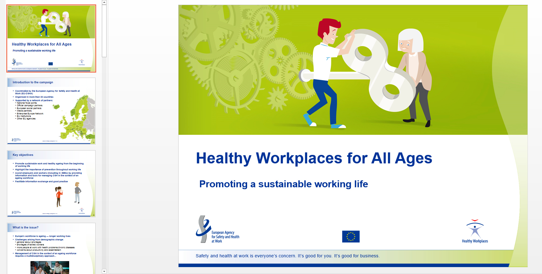 Healthy Workplaces for All Ages | PowerPoint presentations