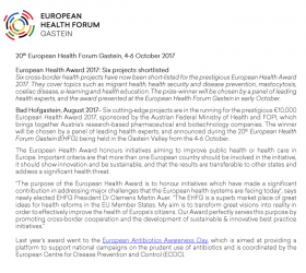 European Health Awards 2017 Shortlisted projects