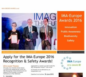 IMA-Europe Awards 2016 (Innovation-Public Awareness-Biodiversity-Safety)