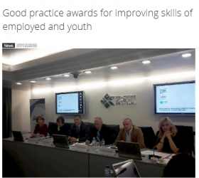 Good practice award for improving skills of both the employed and young people