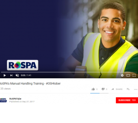 RoSPAs Manual Handling Training Video