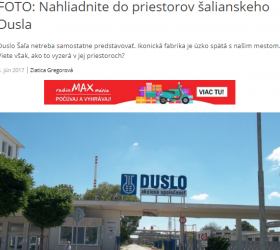 Journalists visit at Duslo, A.S.