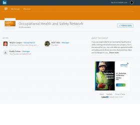 Occupational Health and Safety Network Linkedin Group