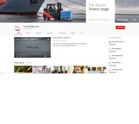 Toyota Material Handling Youtube profile
