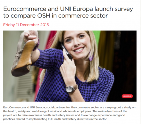 Eurocommerce and UNI Europa survey