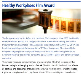 Healthy Workplaces Film Award